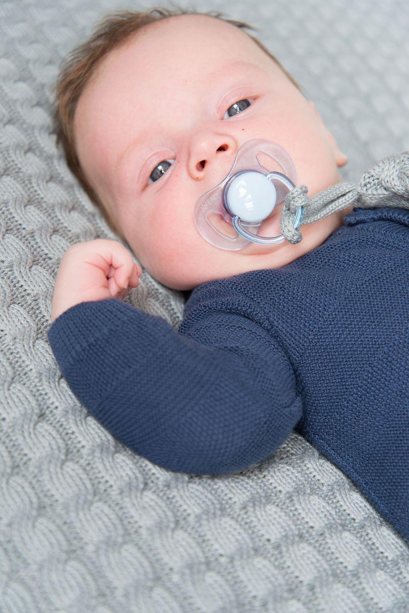 aankleedkussenhoes cable baby blauw 75x85