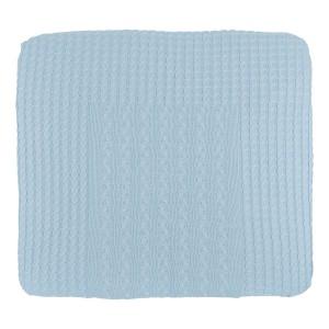 Aankleedkussenhoes Cable baby blauw - 75x85