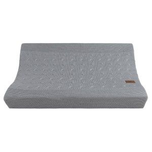 Aankleedkussenhoes Cable grijs - 45x70