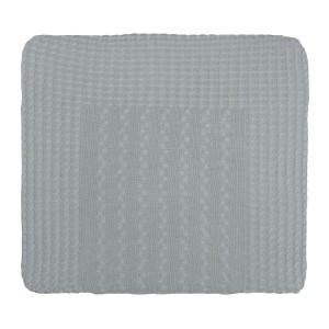 Aankleedkussenhoes Cable grijs - 75x85