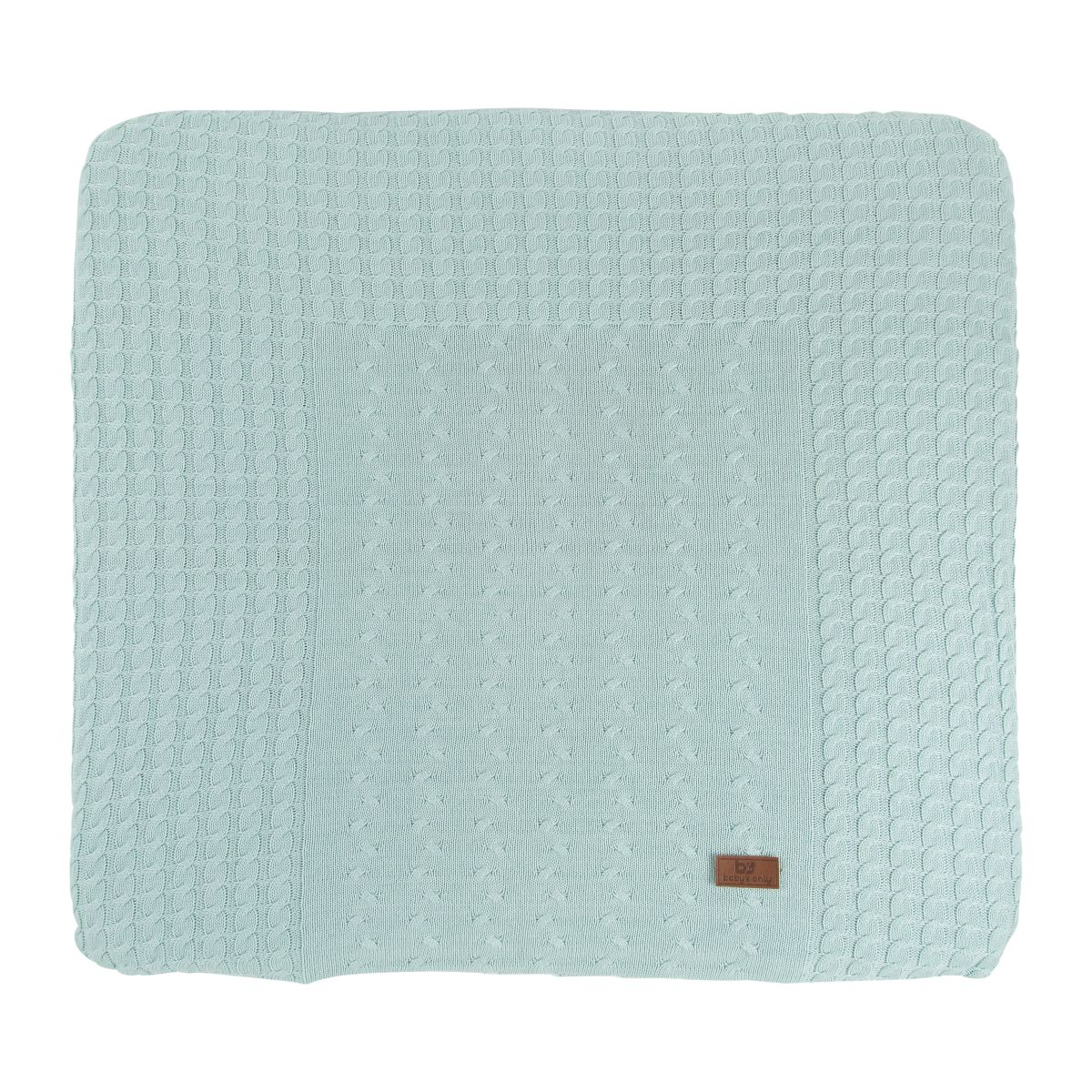 babys only 0137009 duits aankleedkussenhoes cable mint