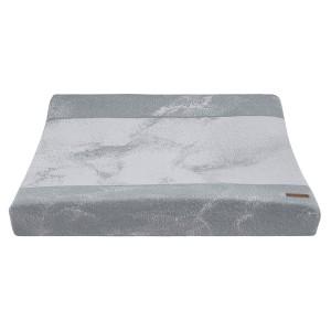 Aankleedkussenhoes Marble grijs/zilvergrijs - 45x70