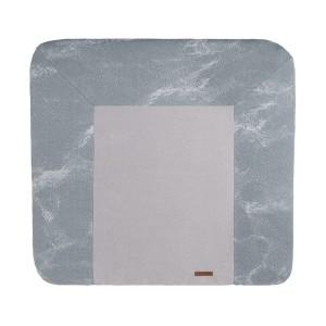 Aankleedkussenhoes Marble grijs/zilvergrijs - 75x85