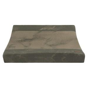 Aankleedkussenhoes Marble khaki/olive - 45x70