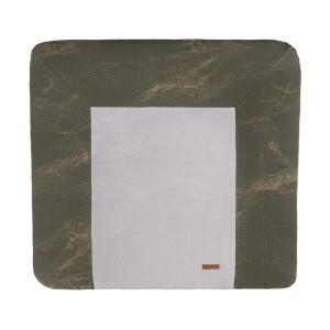 Aankleedkussenhoes Marble khaki/olive - 75x85