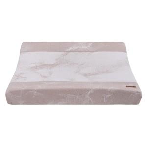 Aankleedkussenhoes Marble oud roze/classic roze - 45x70