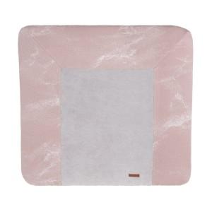 Aankleedkussenhoes Marble oud roze/classic roze - 75x85