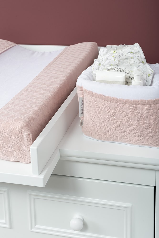 aankleedkussenhoes reef misty pink 45x70