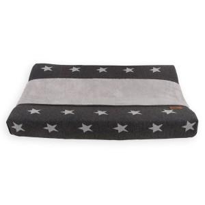 Aankleedkussenhoes Star antraciet/grijs - 45x70