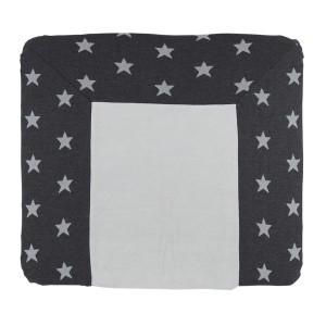 Aankleedkussenhoes Star antraciet/grijs - 75x85