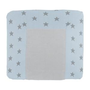 Aankleedkussenhoes Star baby blauw/grijs - 75x85