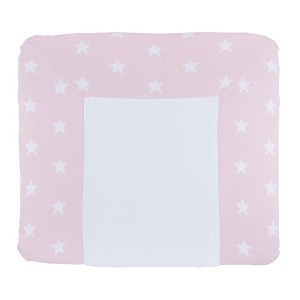 Aankleedkussenhoes Star baby roze/wit - 75x85