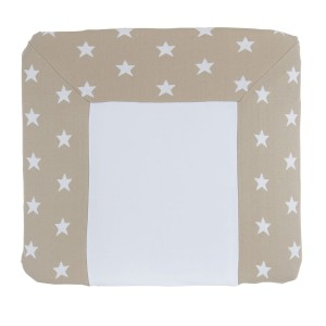 Aankleedkussenhoes Star beige/wit - 75x85