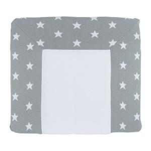 Aankleedkussenhoes Star grijs/wit - 75x85