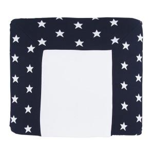 Aankleedkussenhoes Star marine/wit - 75x85
