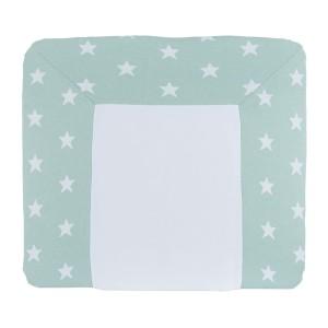 Aankleedkussenhoes Star mint/wit - 75x85