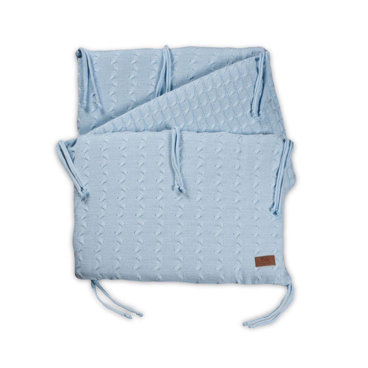 babys only 0134220 bedbumper cable baby blauw