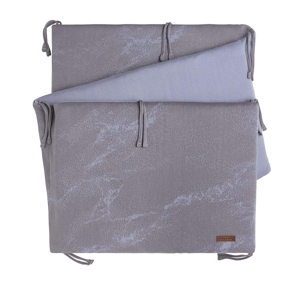 babys only 0214286 bedbumper marble coolgrey lila 1