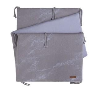 Bedbumper Marble cool grey/lila