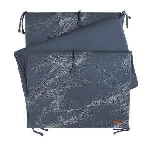 Bedbumper Marble granit/grijs