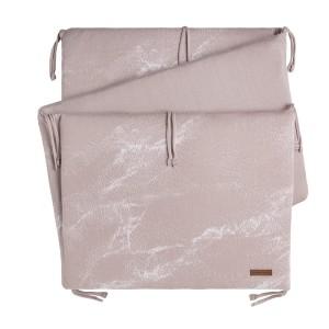 Bedbumper Marble oud roze/classic roze