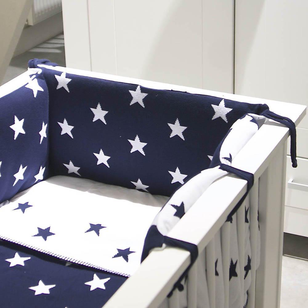 bedbumper star baby blauwgrijs