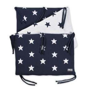 Bedbumper Star marine/wit