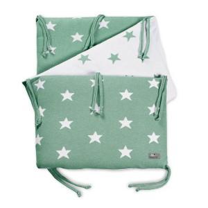 Bedbumper Star mint/wit