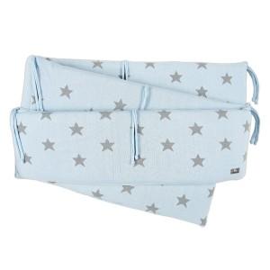 Boxbumper Star baby blauw/grijs