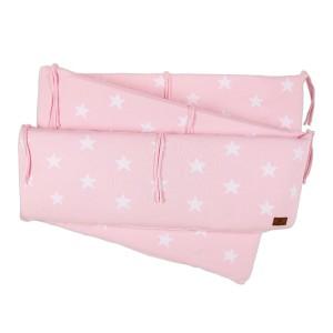 Boxbumper Star baby roze/wit