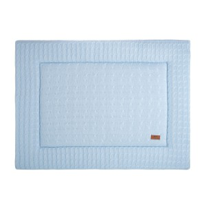 Boxkleed Cable baby blauw - 80x100