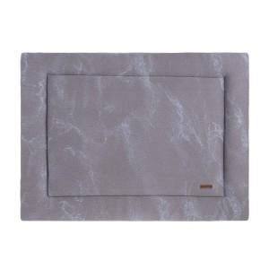 Boxkleed Marble cool grey/lila - 75x95