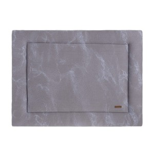 Boxkleed Marble cool grey/lila - 80x100