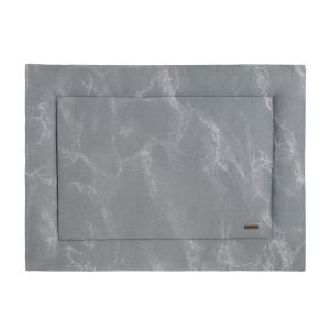 Boxkleed Marble grijs/zilvergrijs - 80x100
