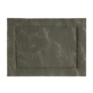 Boxkleed Marble khaki/olive - 80x100