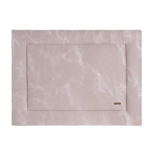 Boxkleed Marble oud roze/classic roze - 80x100