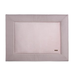 Boxkleed Sparkle zilver-roze mêlee - 75x95