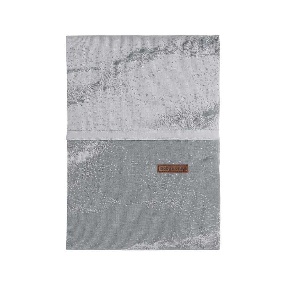 babys only 0210982 dekbedovertrek 135x100 marble grijs zilvergrijs 1
