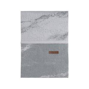 Dekbedovertrek Marble grijs/zilvergrijs - 100x135