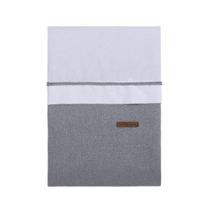 Dekbedovertrek Sparkle zilvergrijs mêlee - 100x135