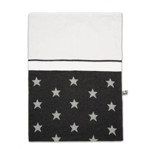 Dekbedovertrek Star antraciet/grijs - 100x135
