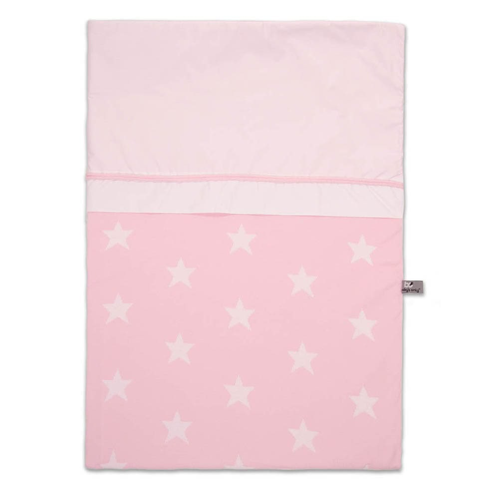 babys only 0910994 dekbedovertrek 100x135 cm star baby roze wit