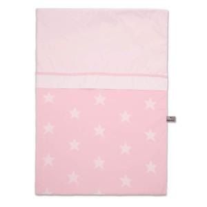 Dekbedovertrek Star baby roze/wit - 100x135