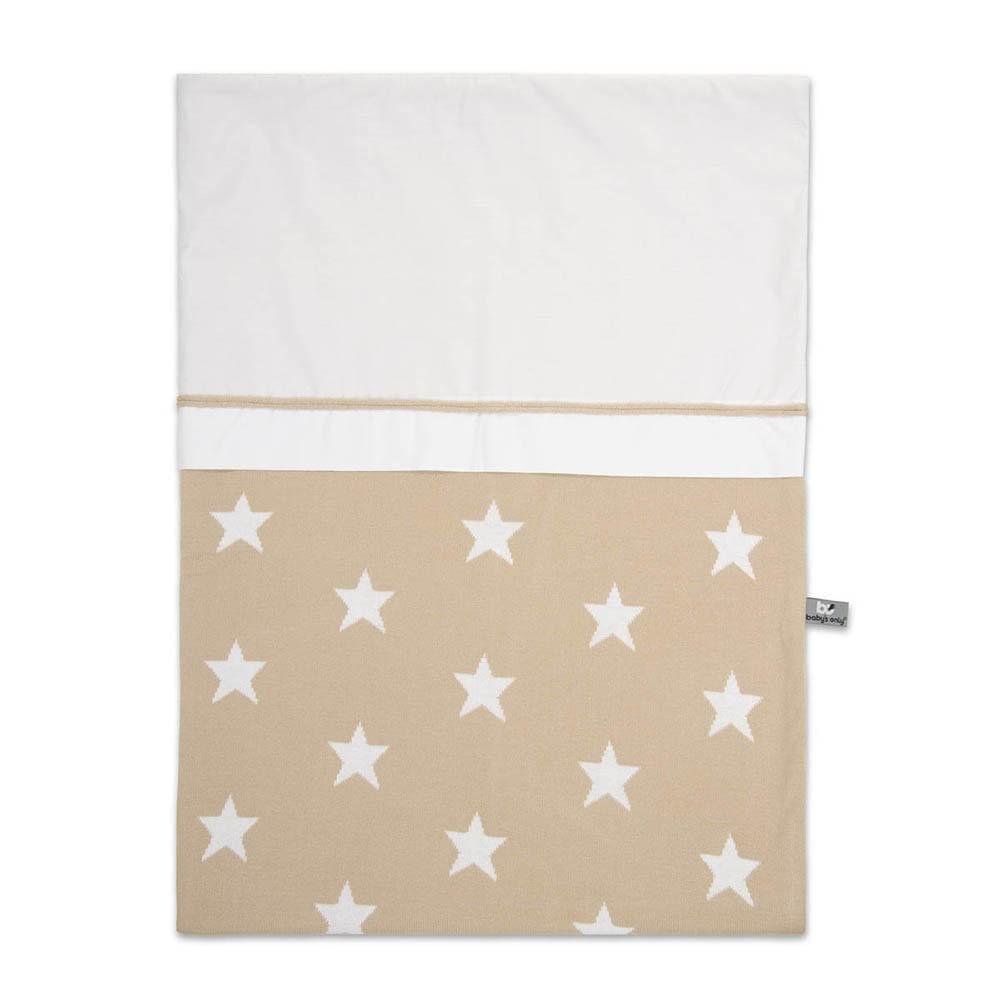 babys only 0910999 dekbedovertrek 100x135 cm star beige wit
