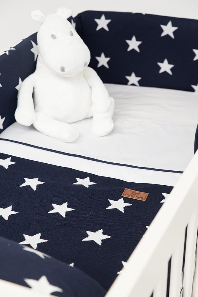 dekbedovertrek star marinewit 100x135