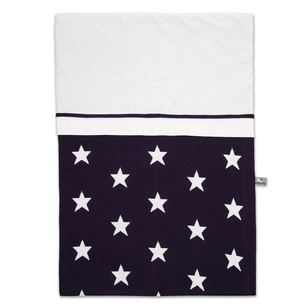 babys only 0910997 dekbedovertrek 100x135 cm star marine wit