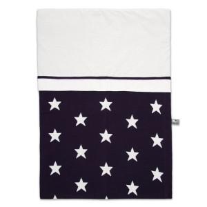 Dekbedovertrek Star marine/wit - 100x135