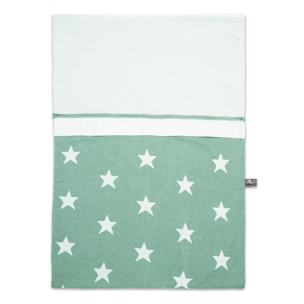 babys only 0910992 dekbedovertrek 100x135 cm star mint wit