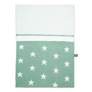 Dekbedovertrek Star mint/wit - 100x135