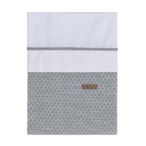 Dekbedovertrek Sun grijs/zilvergrijs - 100x135